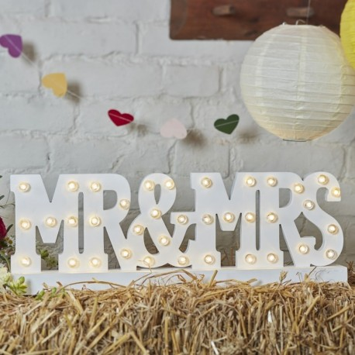 Lettres lumineuses Mr & Mrs