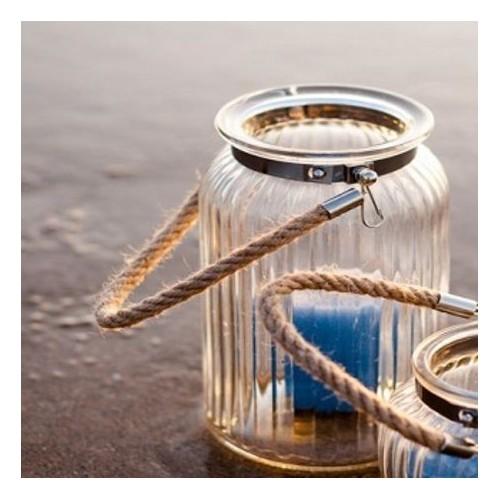 Lanterne verre avec corde