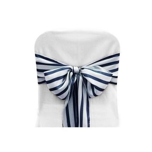 Noeud de chaise rayures bleu marine