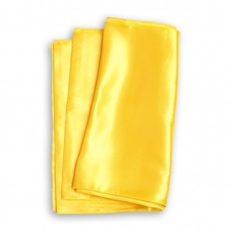 Chemin de table satin jaune