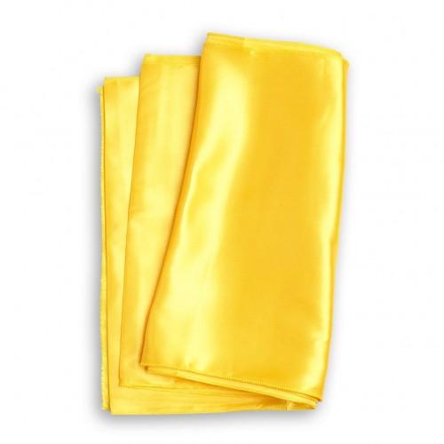 Chemin de table satin jaune