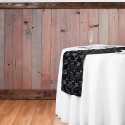 Chemin de table rosette noir