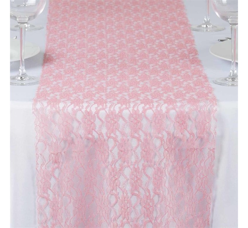 chemin de table en dentelle rose quartz les couleurs du mariage mariage et r ception. Black Bedroom Furniture Sets. Home Design Ideas