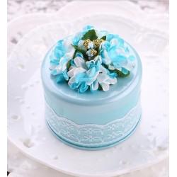 Boite à dragées romantique bleu