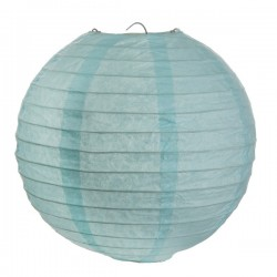 Lanterne papier bleu pastel