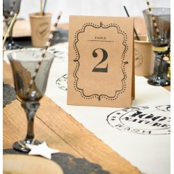 Marque table numéroté craft