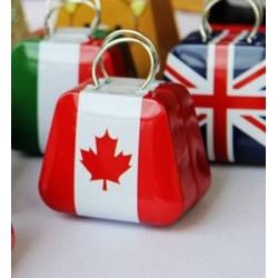 Boite à dragées valise Canada
