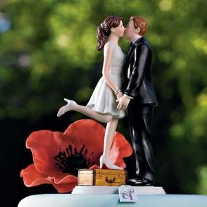 Figurine de mariage thème voyage