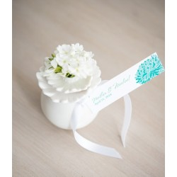 Vase boule blanc