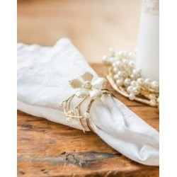 Rond de serviette floral vintage