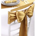 Noeud de chaise mariage satin or