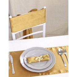 Chemin de table satin or