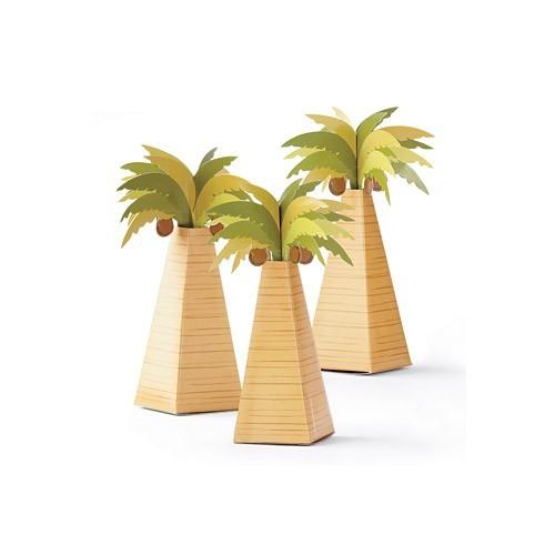 Boite à dragées palmier