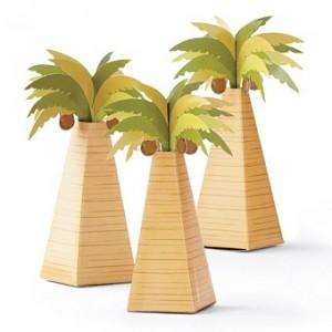 Boite à dragées palmier par 10