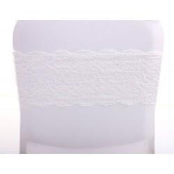 Bandeau de chaise dentelle blanc