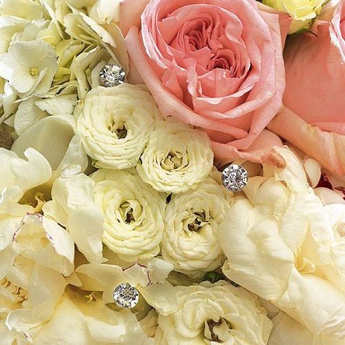 Bijoux de fleurs diamant