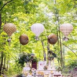 Lanterne mongolfière par 3