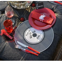 Set de table disque vinyle par 5