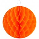 Boule en papier alvéolée orange