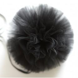 Rouleau de tulle noir 15 cm