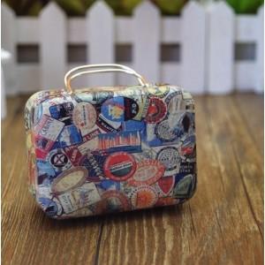 Boite à dragées valise thème voyage