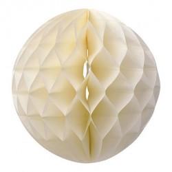 Boule en papier alvéolée ivoire 30 cm