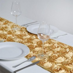 Chemin de table rosette champagne