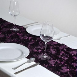 Chemin de table rosette pourpre