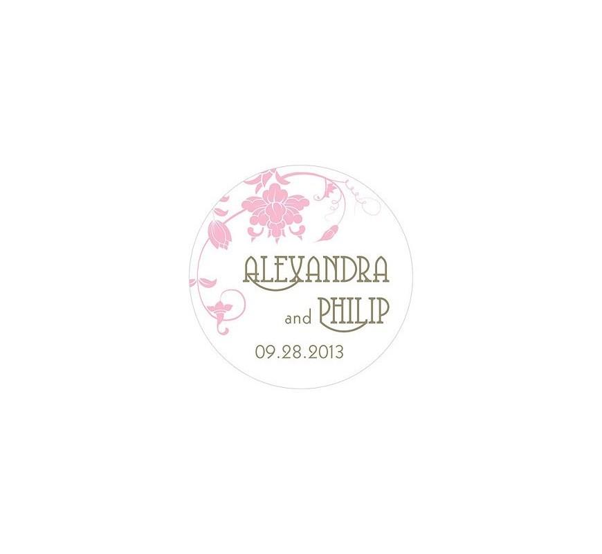 sticker personnalis orchestre floral les couleurs du mariage mariage et r ception. Black Bedroom Furniture Sets. Home Design Ideas