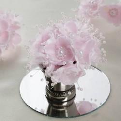 Bouquet de fleurs en tissu rose pale