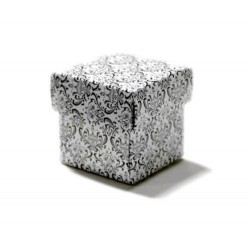 Boite à dragées carrée noire et blanche