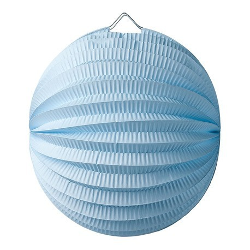 Lampion accordéon bleu ciel