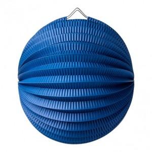 Lampion accordéon bleu marine