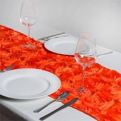 Chemin de table rosette orange les couleurs du mariage - Chemin de table orange ...