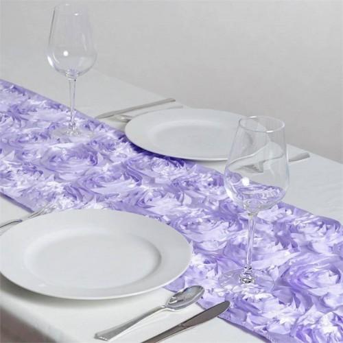 Chemin de table rosette lavande les couleurs du mariage mariage et r ception - Chemin de table lavande ...