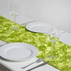Chemin de table rosette vert anis