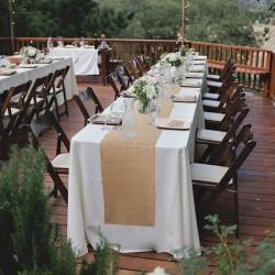 Chemin de table mariage en jute
