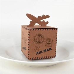 Boite à dragées avion airmail par 10