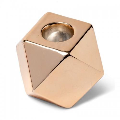 Bougeoir ocyogonal cuivre