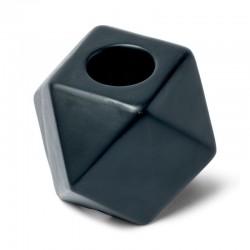 Bougeoir octogonal noir