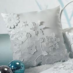 Coussin d'alliances flocons de neige