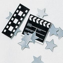 Confettis de table hollywood