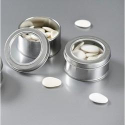 Boite à dragées métal argent