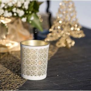 Photophore carreau de ciment or