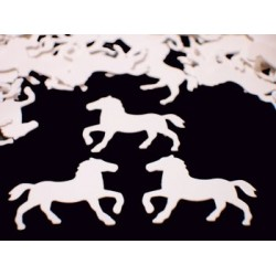 Confettis de table chevaux
